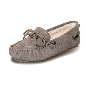 Old Friend Footwear - 340155 - Women's Molly Moccasin Slipper - Grey
