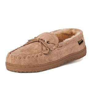 Old Friend - 421220 - Men's Sheepskin Loafer Moccasin - Wide Width - 100% Sheepskin Lining - Chestnut - 8W thru 16W