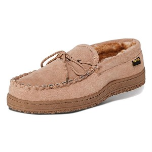 Old Friend Footwear - 588160 - Men's Washington Loafer Moccasin - Chestnut / Stony Acrylic