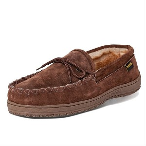 Old Friend Footwear - 588160 - Men's Washington Loafer Moccasin - Chocolate / Stony Acrylic