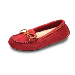 Old Friend - Women's Jemma Moccasin - 441320 - 100% Sheepskin Insole - Ruby