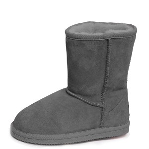 Oomphies For Kids - Youth Classic Boot - Charcoal Suede - Y0712