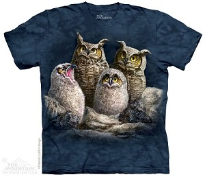 Owl Family - Adult Tshirt