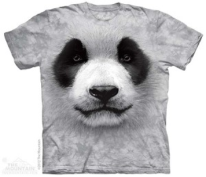 Big Face Panda - Adult Tshirt