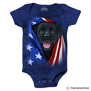 Patriotic Black Lab Pup - 89-5972 - Infant Onesie