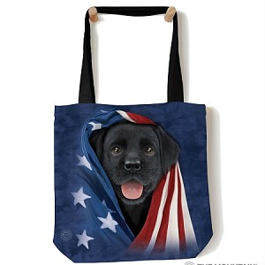 Patriotic Black Lab Pup - 97-5972 - Everyday Tote