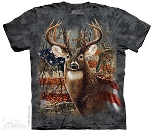 Patriotic Buck - Adult Tshirt