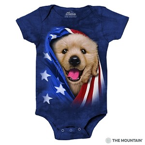 Patriotic Golden Pup - 89-5905 - Infant Onesie