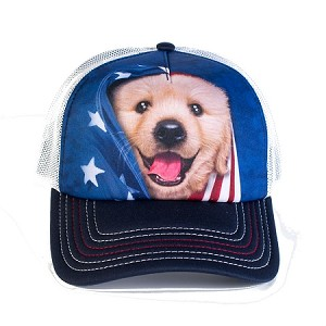Patriotic Golden Pup - 76-5905 - Trucker Hat
