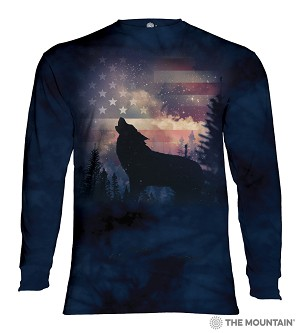 Patriotic Howl - 45-5971 - Adult Long Sleeve T-shirt