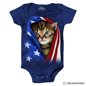 Patriotic Kitten - 89-3941 - Infant Onesie