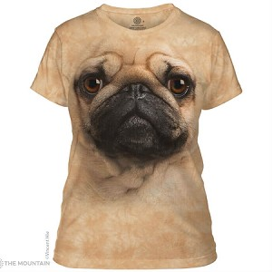 Pug Face - 28-3369 - Ladies Fitted Tee