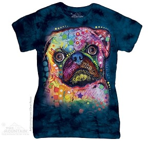 Russo Pug - Ladies Fitted Tee