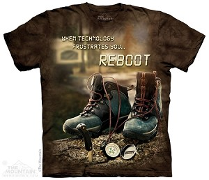 When Technology Frustrates You...Reboot - Adult  T-shirt