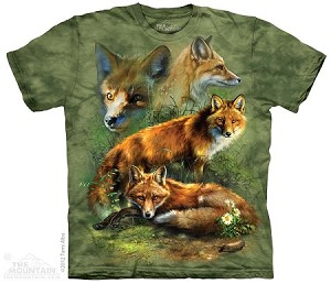 Red Fox Collage - Adult Tshirt