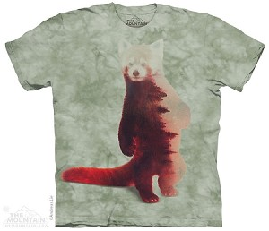 Red Panda Forest - Adult Tshirt