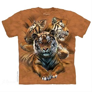 Resting Tiger Collage - 10-5889 - Adult Tshirt