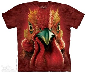 Rooster Head - Adult Tshirt