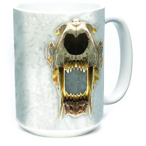 Sabertooth Skull - 57-5897-0900 - Coffee Mug