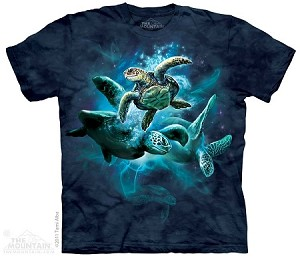 Sea Turtle Collage - Youth Tshirt