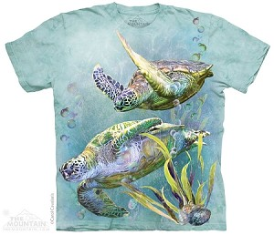 Sea Turtles Swim - 10-4323 - Adult Tshirt