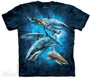 Shark Collage - Youth Tshirt
