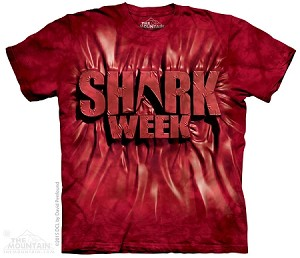 Shark Week Red - Adult Tshirt