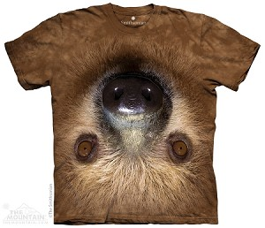 Upside Down Sloth - Adult Tshirt