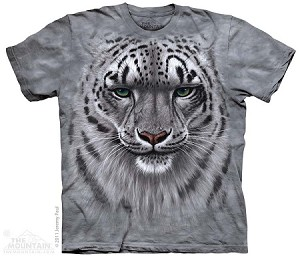 Snow Leopard Portrait - 10-3181 - Adult Tshirt