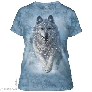 Snow Plow Wolf - 28-3673 - Ladies Fitted Tee
