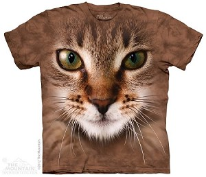 Striped Cat Face - Adult Tshirt