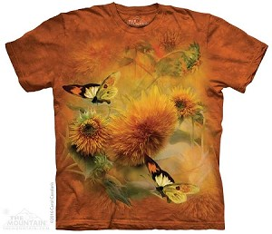 Sunflowers And Butterflies - Adult Tshirt - 10-4994