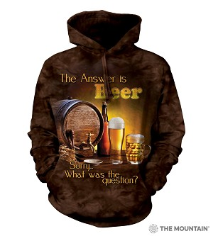 The Answer is Beer... - Adult Hoodie - 72-4902