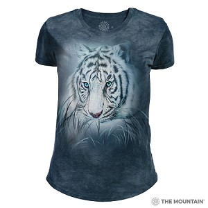 Thoughtful White Tiger - 26-5964 - Women's Triblend Crew-Neck Tee