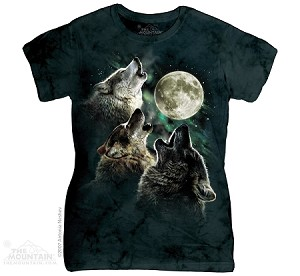 Three Wolf Moon - Ladies Fitted Tee