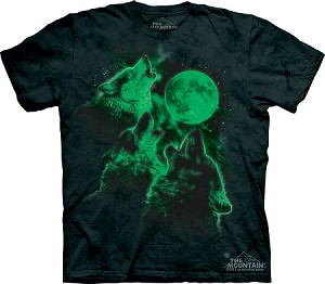 Three Wolf Moon Glow In The Dark - Youth Tshirt