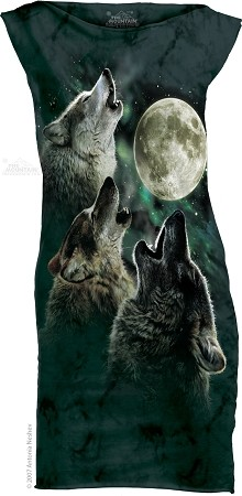 Three Wolf Moon - Ladies Mini Dress