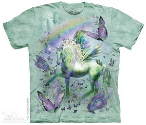 Unicorn And Butterflies - Youth Tshirt