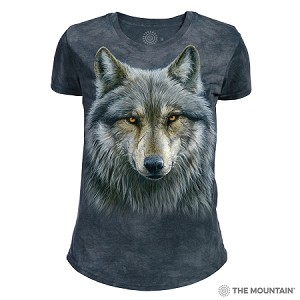 Warrior Wolf - 26-4979 - Women's Triblend Crew-Neck Tee