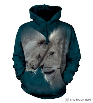 White Lions Love - 72-5937 - Adult Hoodie