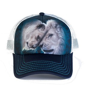 White Lions Love - 76-5937 - Trucker Hat