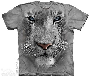 White Tiger Face  - 10-3252 - Adult Tshirt