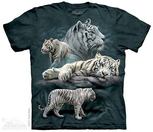 White Tiger Collage - Youth Tshirt