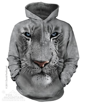 White Tiger Face - 72-3252 - Adult Hoodie