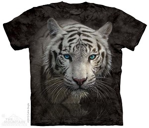 White Tiger Reflection - Adult Tshirt