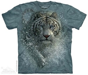 Wet And Wild White Tiger - Adult Tshirt