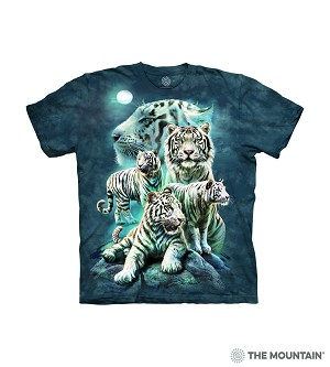 Night White Tiger Collage - 10-6273 - Adult Tshirt