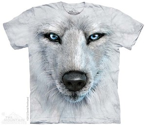 White Wolf Face - Adult Tshirt