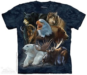 Wild Alaskan Collage - 10-4861 - Adult Tshirt