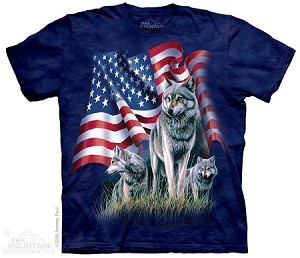 Wolf Flag - Adult  T-shirt